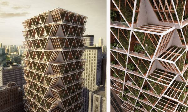 Ce projet de gratte-ciel écolo permet aux habitants de cultiver leurs fruits et légumes