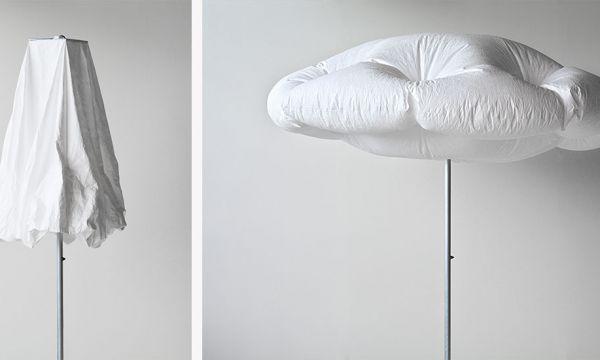 Découvrez comment ce parasol se gonfle tout seul pour prendre la forme d'un nuage
