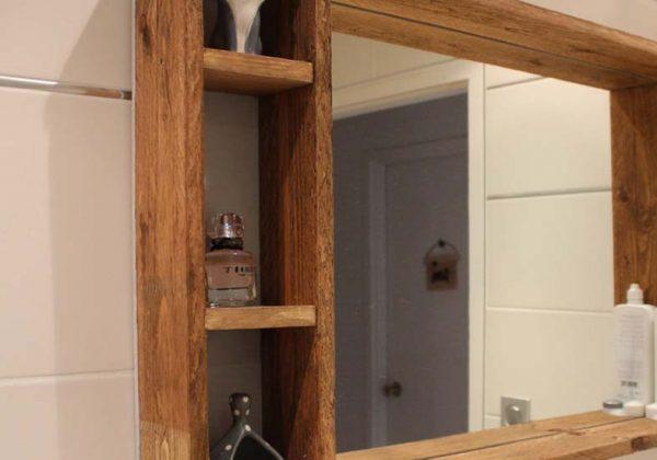 Tutoriel Pour Realiser Un Miroir A Accrocher Avec Rangements En Palettes De Bois