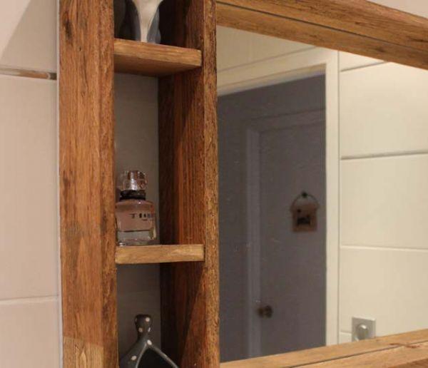 Tuto : Fabriquez un miroir avec rangements, en bois de palette