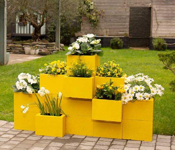 Tuto : Fabriquez des jardinières en béton pour embellir votre jardin
