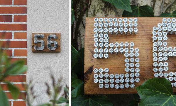 Tuto : Fabriquez un numéro de porte original et récup'