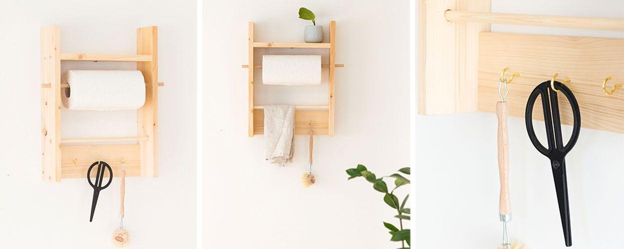 Tuto : Fabriquez une étagère de cuisine pratique avec dérouleur d'essuie-tout