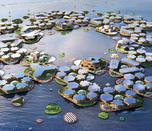 Cette ville flottante pourrait accueillir les futurs réfugiés climatiques des États-Unis