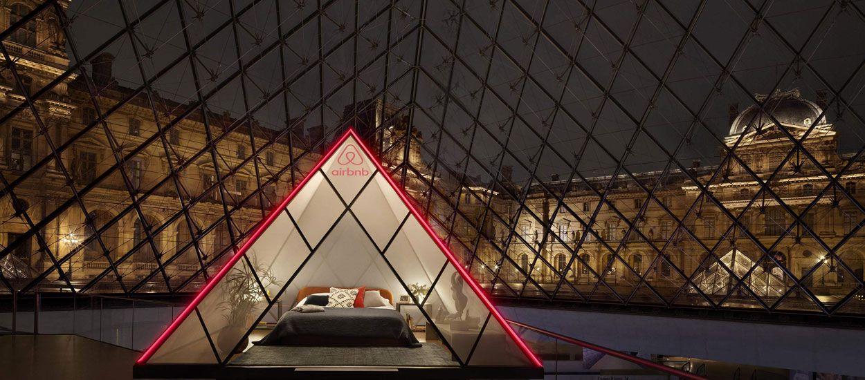 Airbnb vous fait gagner une nuit sous la pyramide du Louvre et privatise le célèbre musée !