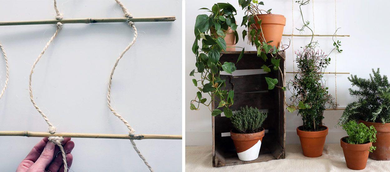 diy pour construire un treillis en bambou pour accrocher. Black Bedroom Furniture Sets. Home Design Ideas