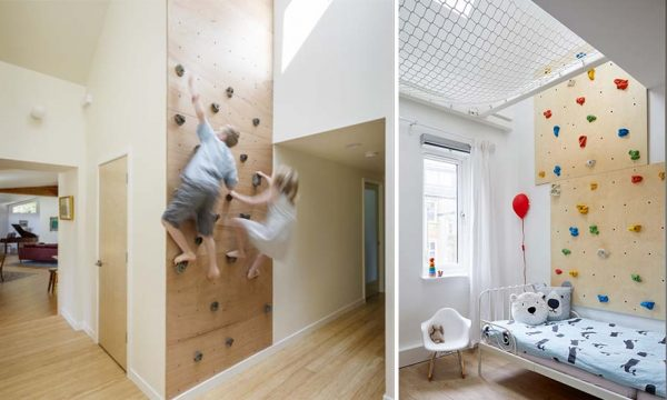 Les plus beaux murs d'escalade à installer dans votre maison !