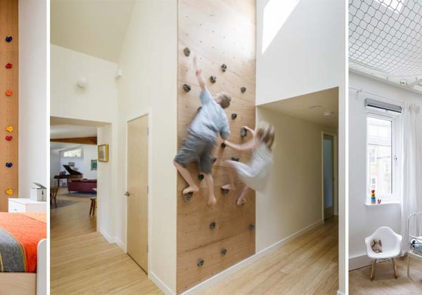 Belles idées pour installer un mur d\'escalade intérieur pour ...