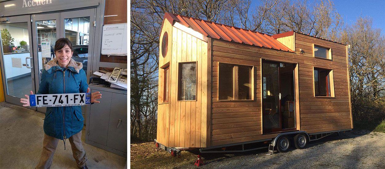 Camille, 29 ans, a mis trois mois pour construire la tiny house de ses rêves