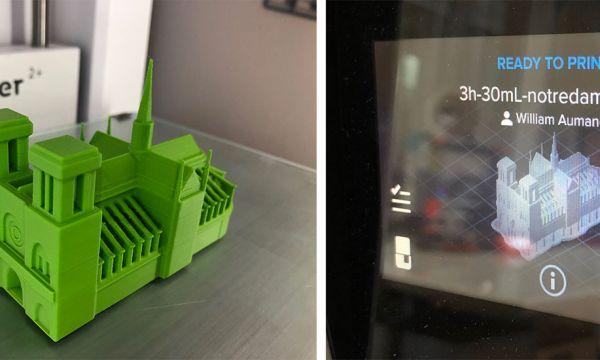Des Bretons rendent hommage à la cathédrale Notre-Dame avec une impression 3D