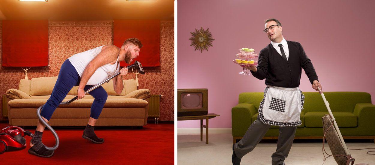 Les hommes qui font le ménage seraient plus heureux que les autres