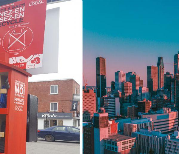 Montréal a la solution pour tous ceux qui oublient leur sac en tissu pour faire les courses !