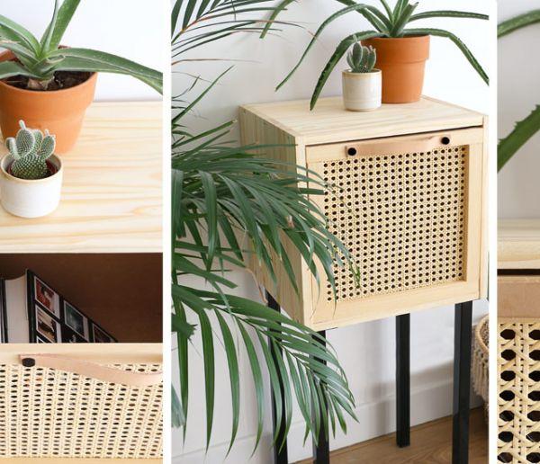 Tuto : Fabriquez une adorable console en cannage, pile dans la tendance
