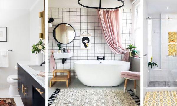 9 idées pour égayer une salle de bains toute blanche