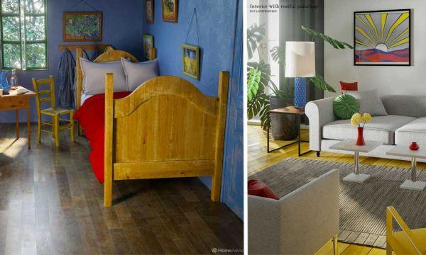 Saurez-vous reconnaître à partir de quels tableaux sont recréés ces intérieurs ?
