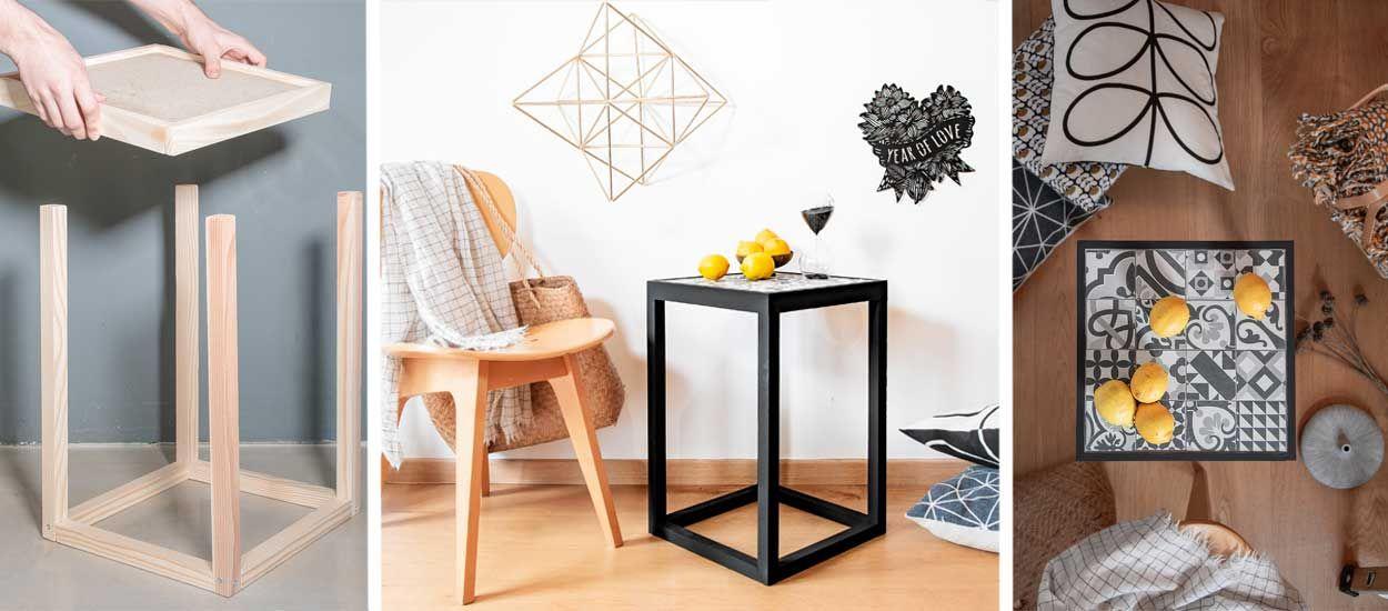Tuto : Fabriquez une table d'appoint moderne avec des carreaux de ciment
