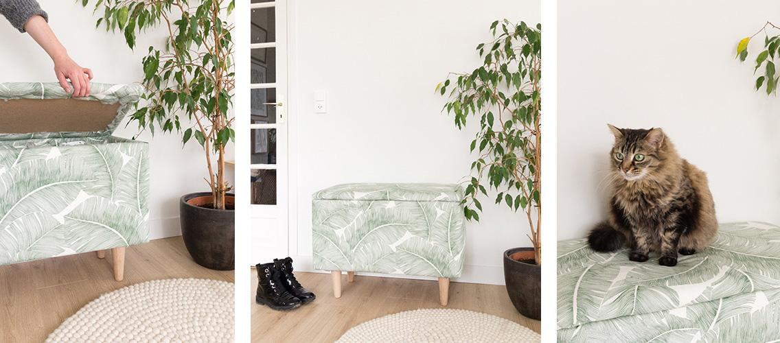 Tuto : Fabriquez votre banc-coffre en tissu tendance