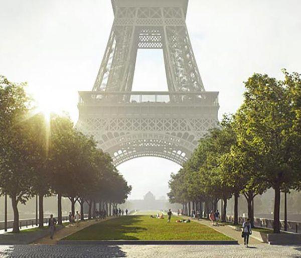 Le site de la Tour Eiffel bientôt métamorphosé pour laisser place aux piétons et aux arbres