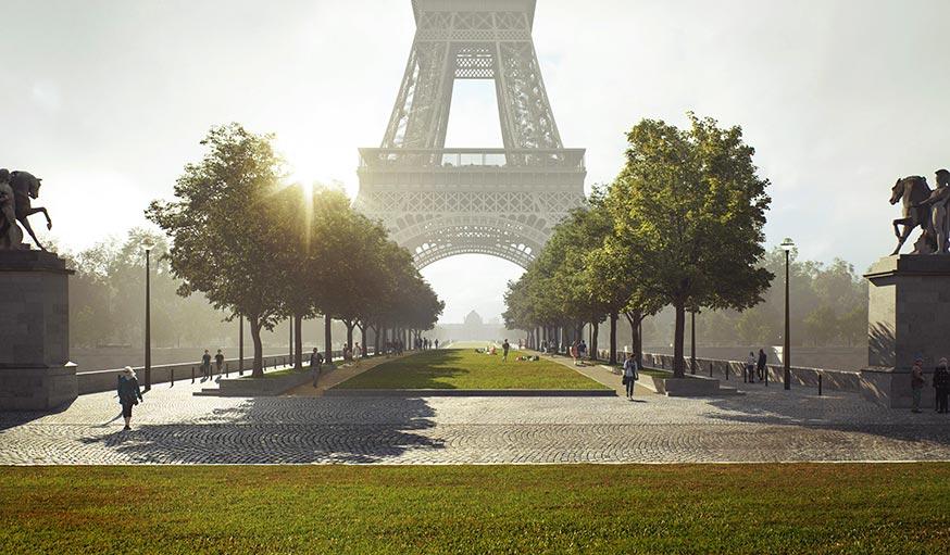 Projet One rénovation site Tour Eiffel 2023