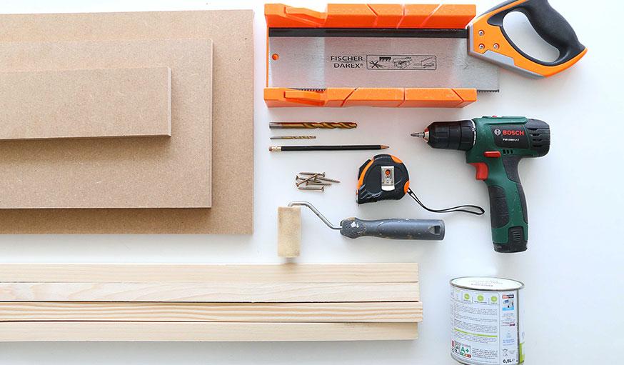 matériel à utiliser pour créer une étagère