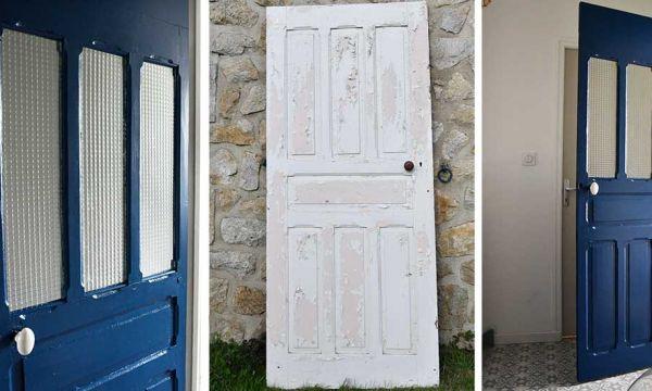Tuto : Transformez une vieille porte en bois en porte vitrée pour apporter plus de lumière