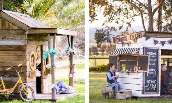 11 cabanes pour enfants construites à partir de palettes en bois