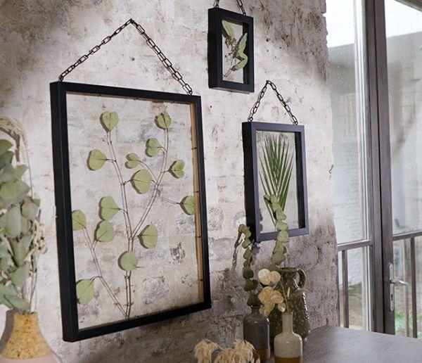 Tuto : Réalisez un cadre herbier à suspendre pour végétaliser votre déco