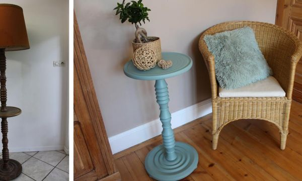 Tuto : Transformez un vieux lampadaire en un élégant guéridon