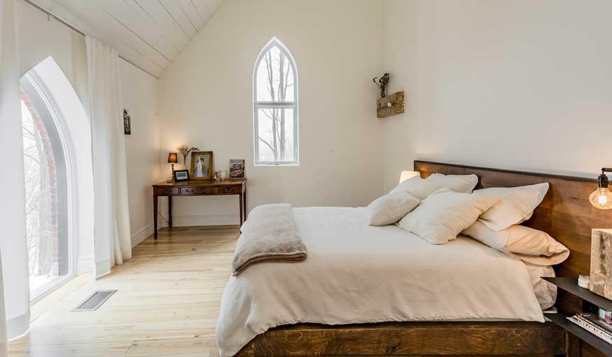 Eglise transformée en maison québec chambre