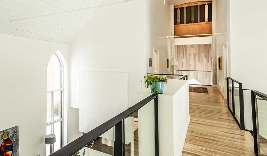 Eglise transformée en maison Québec orgue
