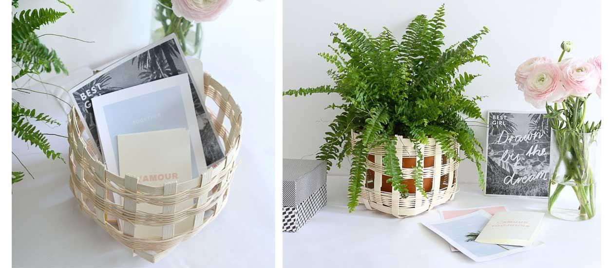 Tuto : Fabriquez un joli panier en rotin tressé, qui peut aussi servir de cache-pot