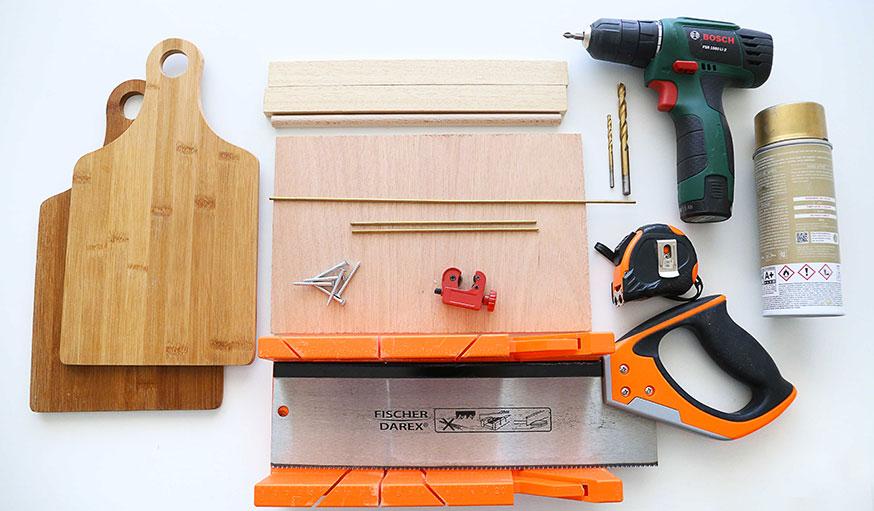matériel outils porte verre tuto
