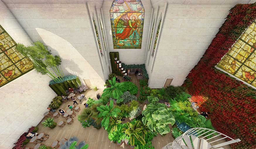 église botanique végétalisé jardin