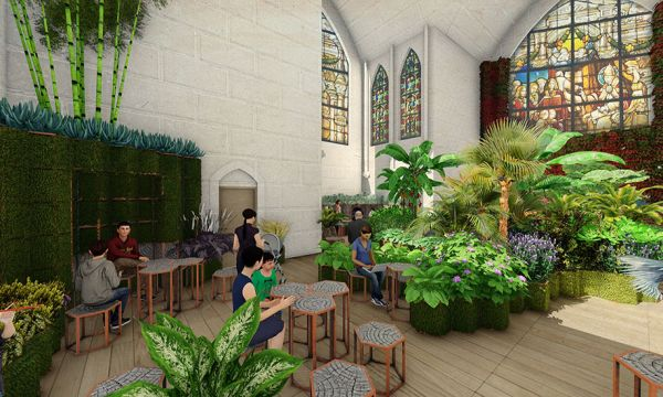 Et si les églises à l'abandon devenaient des jardins où l'on vient se détendre ?
