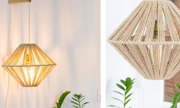 Tuto : Fabriquez un abat-jour en cordelette pour une lampe graphique !