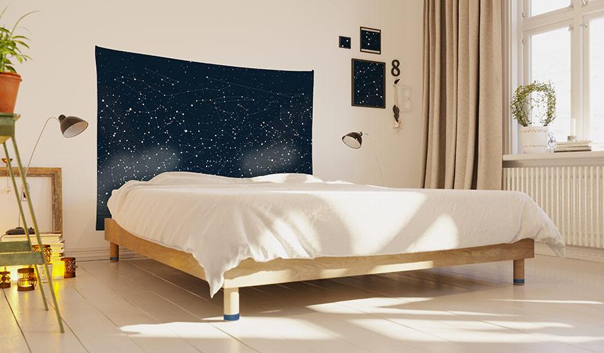 étoile tapisserie murale