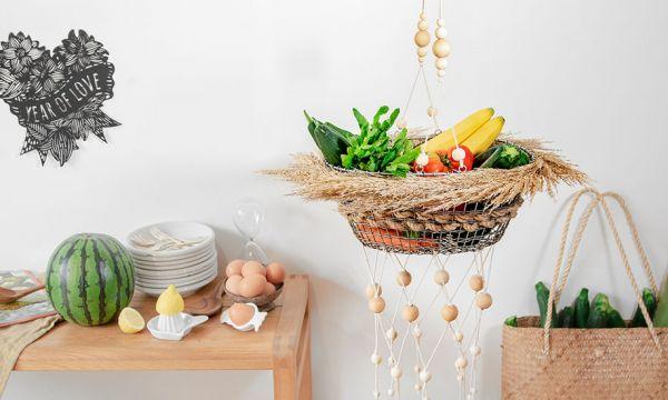 Tuto : Fabriquer avec trois fois rien un panier bohème pour fruits et légumes !