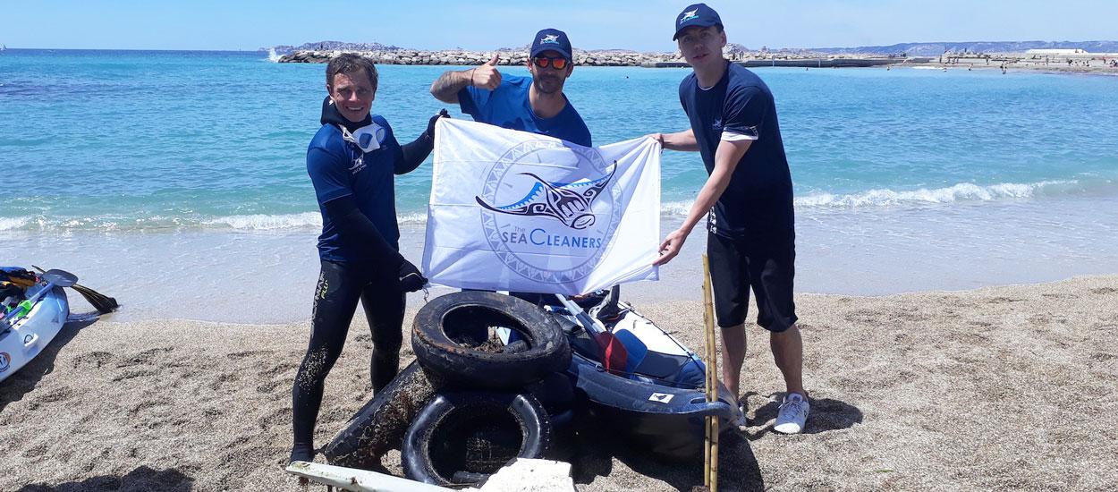 Romain a ramassé 205 kilos de déchets au large de Marseille