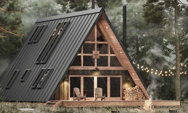 Les plans de cette maison triangle sont à vendre pour moins de 2000 euros