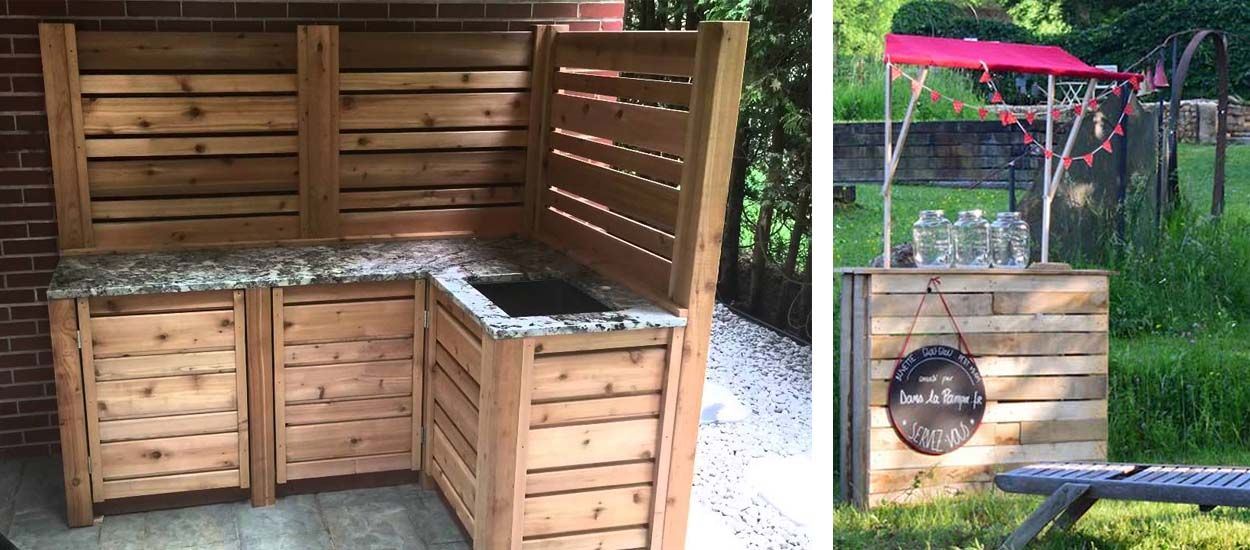 Tutos : 8 meubles en palette pour une cuisine d'extérieur de rêve !