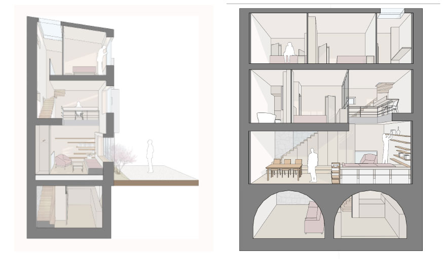 Plans immeuble Paris Alia Bengana + Capucine de Cointet architectes