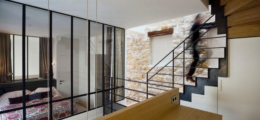 Triplex rénové Alia Bengana + Capucine de Cointet architectes vue panoramique depuis bureau