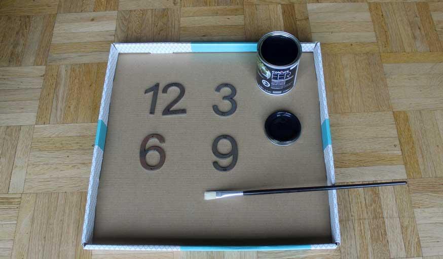 Tuto fabriquer une horloge avec une roue de vélo 10