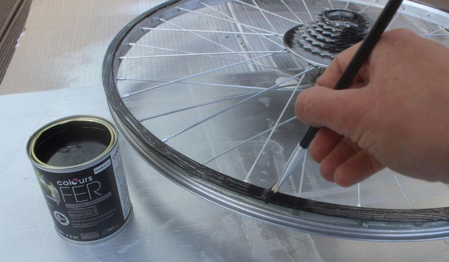Tuto fabriquer une horloge avec une roue de vélo 13