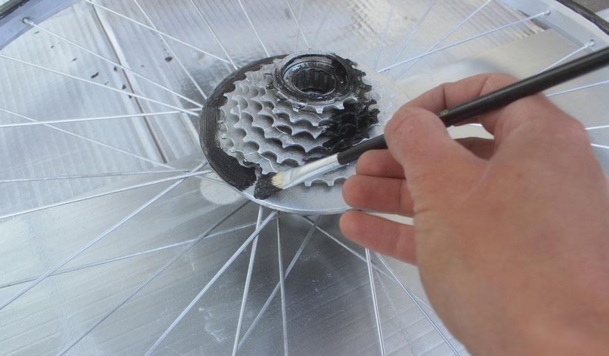 Tuto fabriquer une horloge avec une roue de vélo 14