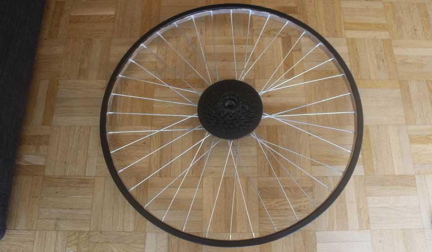 Tuto fabriquer une horloge avec une roue de vélo 15