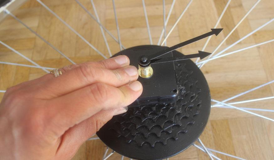 Tuto fabriquer une horloge avec une roue de vélo 18