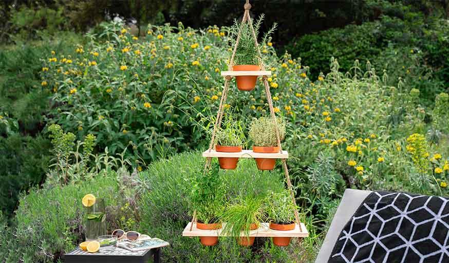 Tutoriel suspension plantes aromatiques