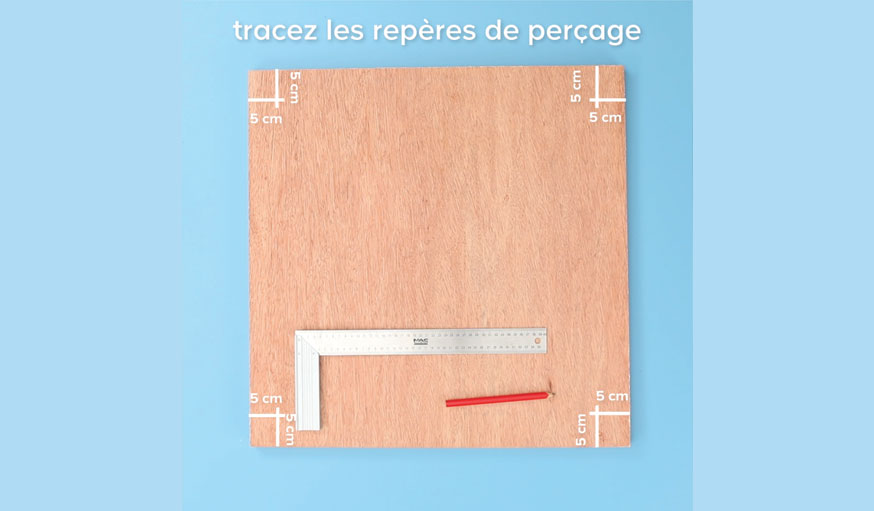 Tutoriel table basse sans clou ni vis ni colle étape 1