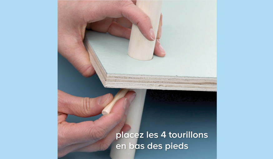 Tutoriel table basse sans clou ni vis ni colle étape 14